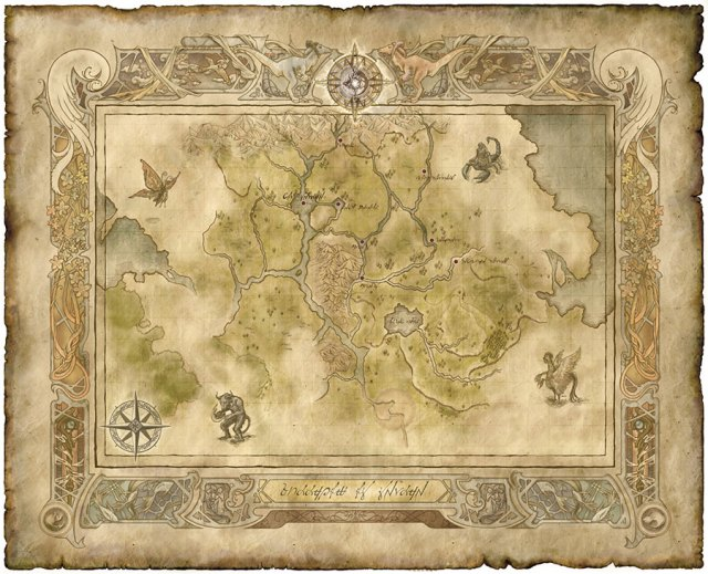 Map of Falena (Image © Konami. Intended Fair Use.)